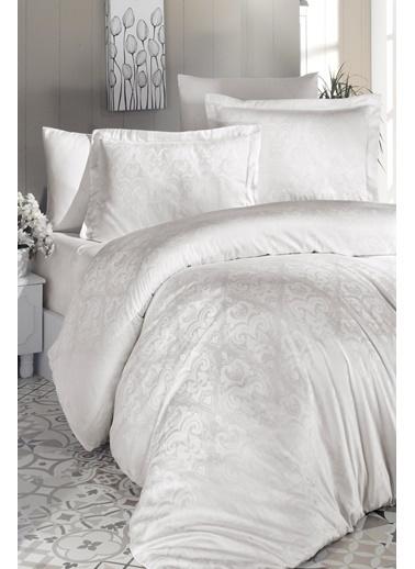 Silk and Cashmere More Luminious White Çift Kişilik Nevresim Takimi Beyaz
